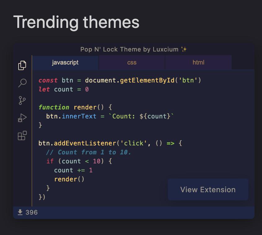 VSCode デザインテーマを変更するなら「vscodethemes」